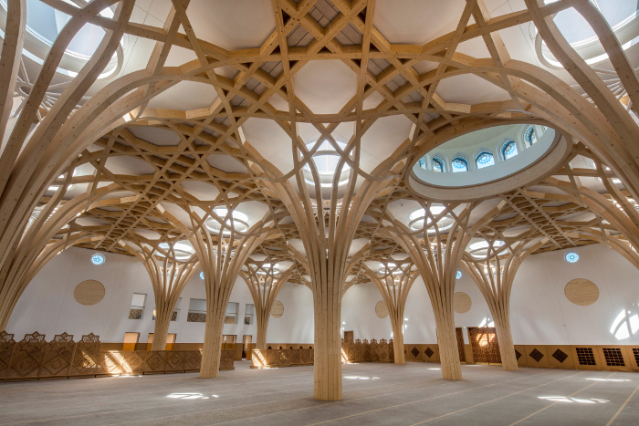 The inside of the mosque. (Morley von Sternberg)
