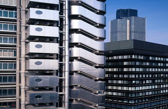 Lloyd's building, Lime Street, City of London designed by Richard Rogers Partnership (1986)