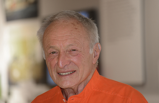 Richard Rogers at the opening of his 'Inside Out' exhibition at the Royal Academy, London, July 2013