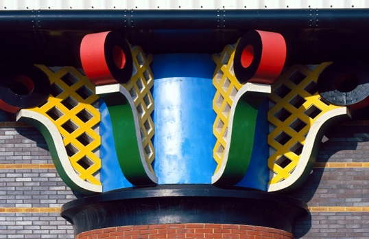 John Outram, Pumping Station, Isel of Dogs, 1988. Reid & Pack/RIBA Collections