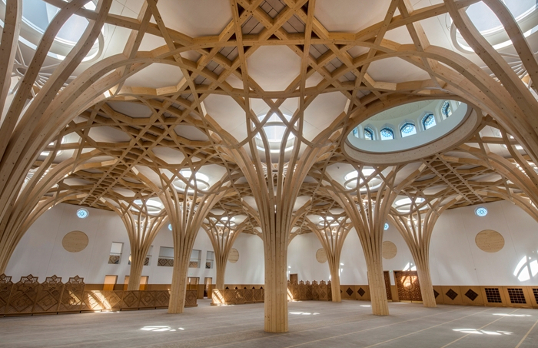 Cambridge Central Mosque by Marks Barfield Architects