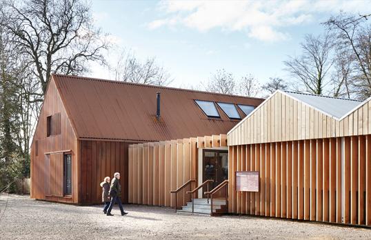 Mottisfont New Visitor Facilites by Jack Hobhouse