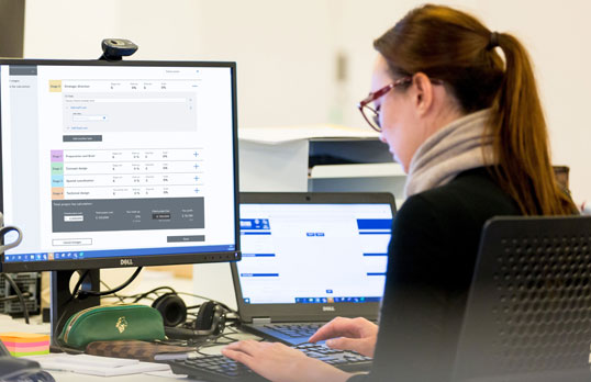 Architect at a RIBA Chartered Practice using the Fee Calculator tool
