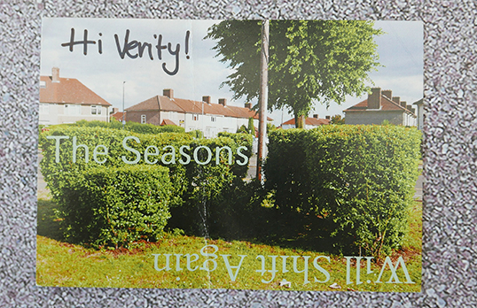 Postcards from Becontree: a postcard addressed to Verity from the estate