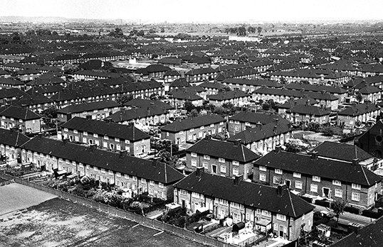 Aerial view of Becontree estate