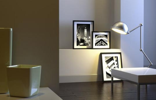 Living room with RIBApix photo prints
