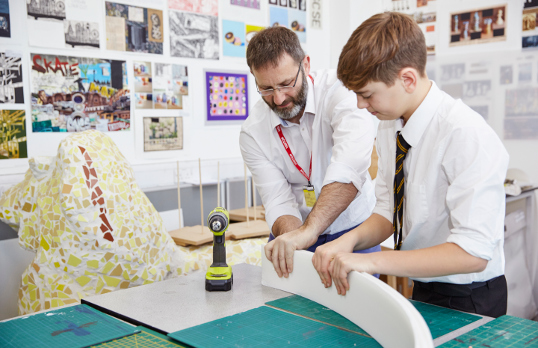 In-school workshop at Hampton School, London, part of the RIBA's National Schools Programme, with architects DesignBox