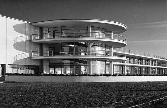 De la Warr Pavilion, Bexhill-on-sea, RIBA Collections.This photograph comes from the archive of Sir Anthony Wakefield Cox