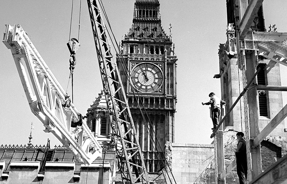 Reconstruction of the Houses of Parliament, Palace of Westminster, London, following war damage John Maltby / RIBA Collections