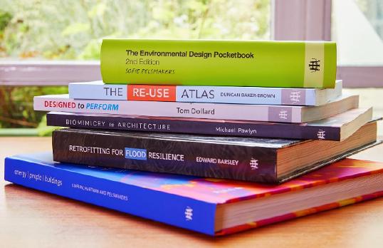 Stack of RIBA Publishing books
