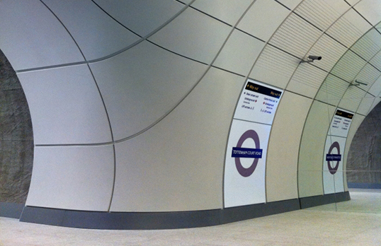 Interior of a Crossrail station
