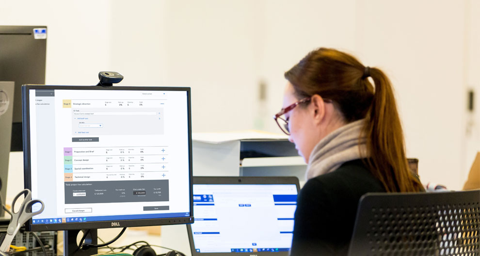 RIBA chartered practice architect using the fee calculator tool