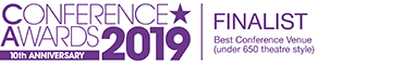 Conference Awards 2019 finalist (Best Conference Venue, under 650 theatre style)